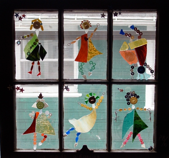 "Window by Pamela Benjamin ""Six Maids a'Dancing"""